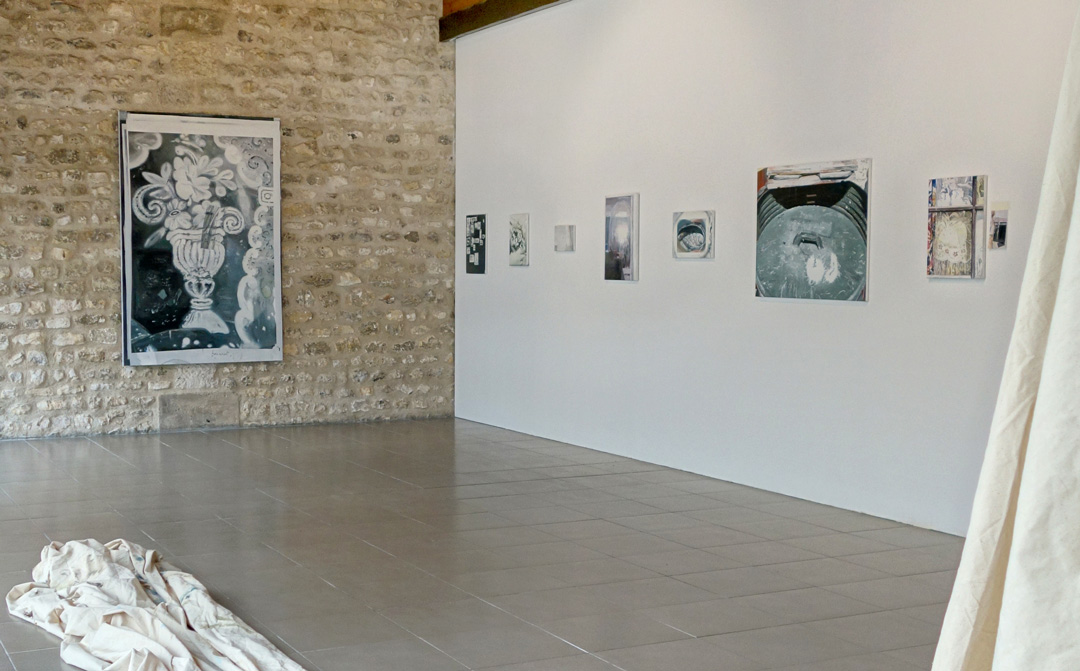 Peintures, images, rideaux, Solo show, Maison des Arts, Grand-Quevilly