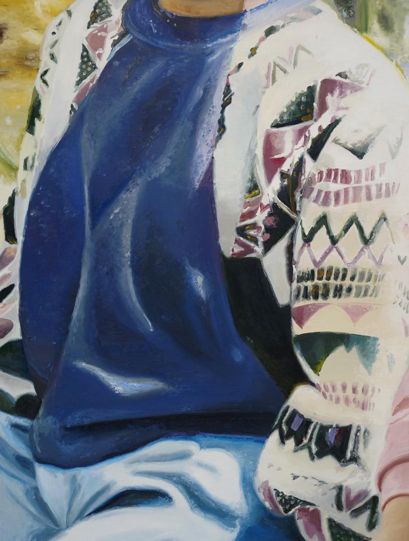 Mireille Blanc, Petit sweat bleu, 2017