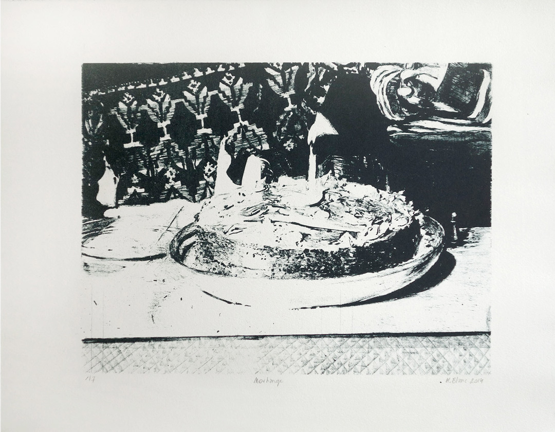 Mireille Blanc, Morhange, 2014, 35 x 45 cm, Lithography, Edition of 7