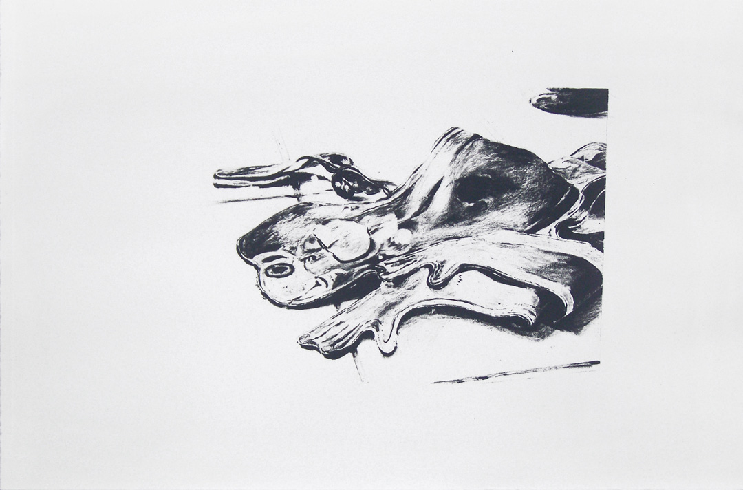 Mireille Blanc, Singe, 2013, 33 x 50 cm, Lithography, Edition of 17
